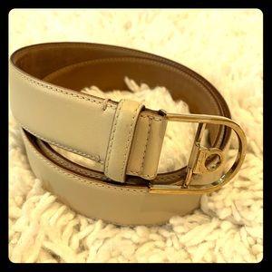 Salvatore Ferragamo Calfskin Leather Belt 75cm